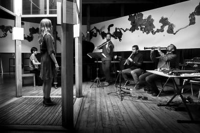 Collaboration with composer Sebastian de Larraechea and architect Victoria Jolly, at Ciudad Abierta, Ritoque, Chile