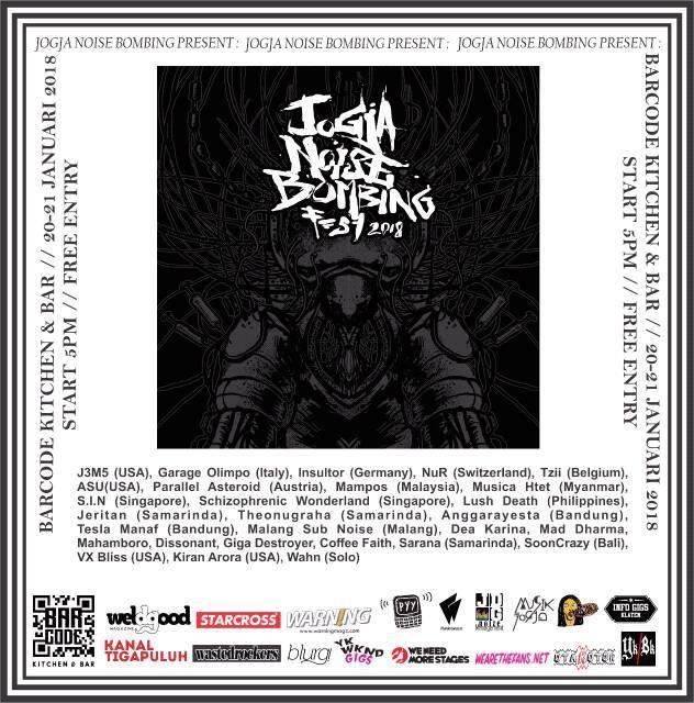 Jogja Noise Bombing Festival Poster